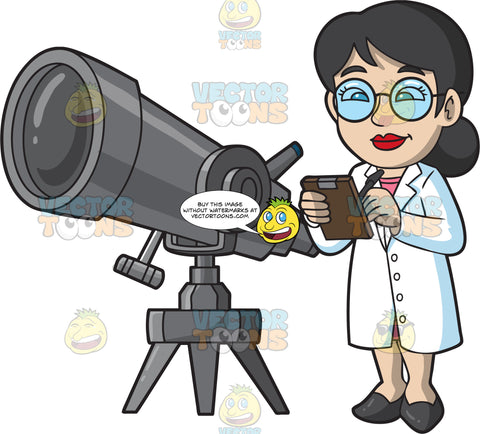 A Smart Female Astronomer