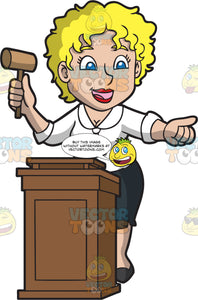 A Jolly Female Auctioneer
