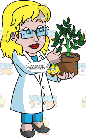 An Observant Female Botanist