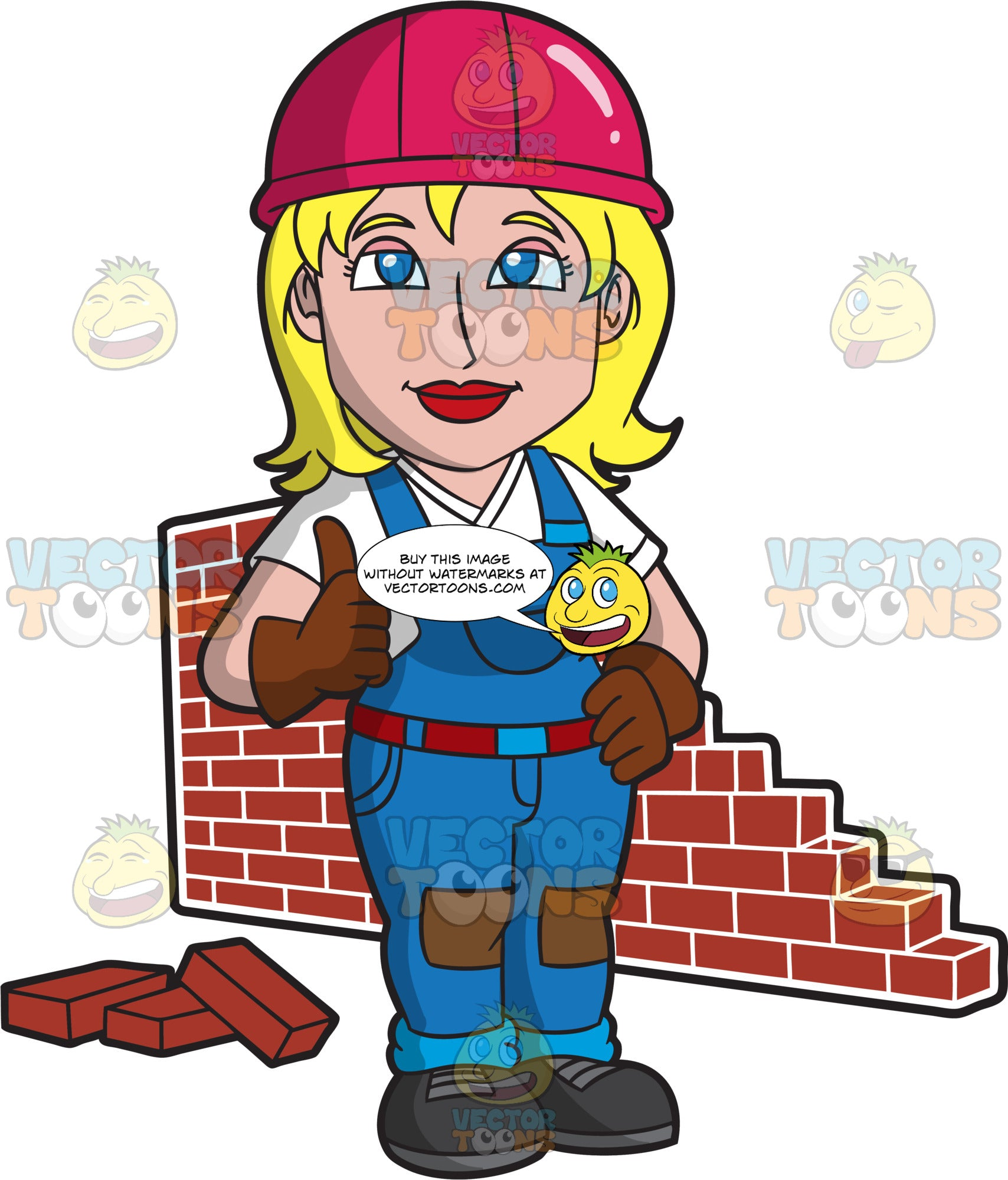 A Satisfied Female Bricklayer