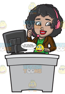A Black Female Call Center Agent