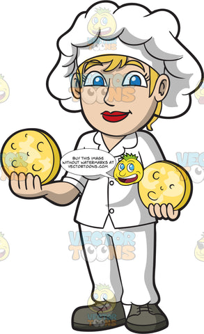 A Friendly Looking Female Cheese Maker