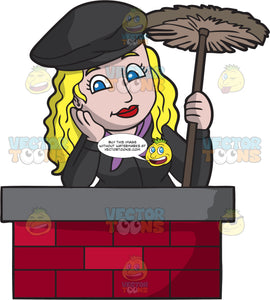 A Daydreaming Female Chimney Sweep