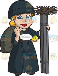 A Friendly Female Chimney Sweep