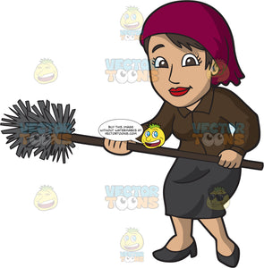 A Smiling Female Chimney Sweep