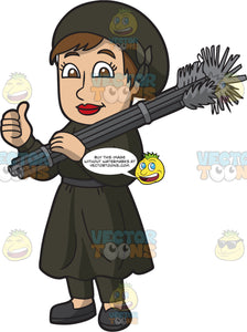 A Satisfied Female Chimney Sweep