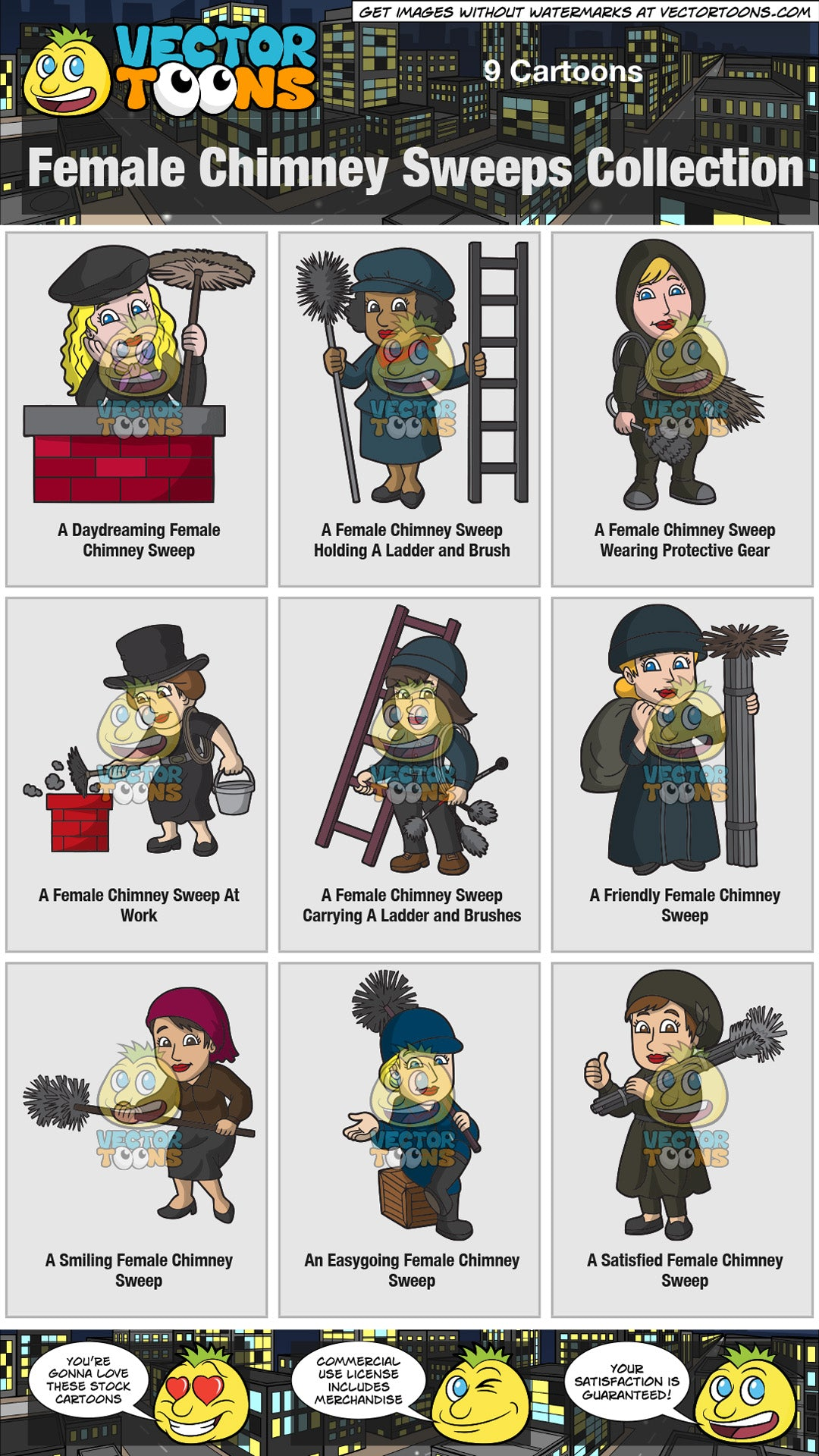 Female Chimney Sweeps Collection