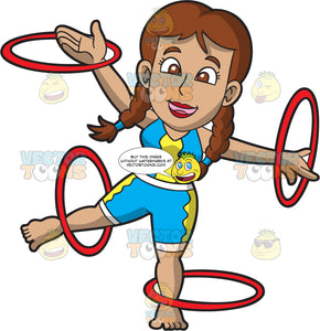 A Female Circus Hoops Performer