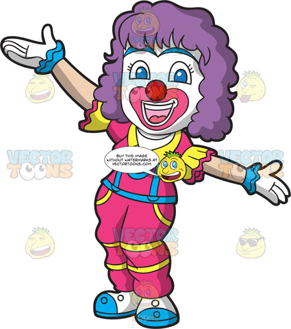 A Female Circus Clown