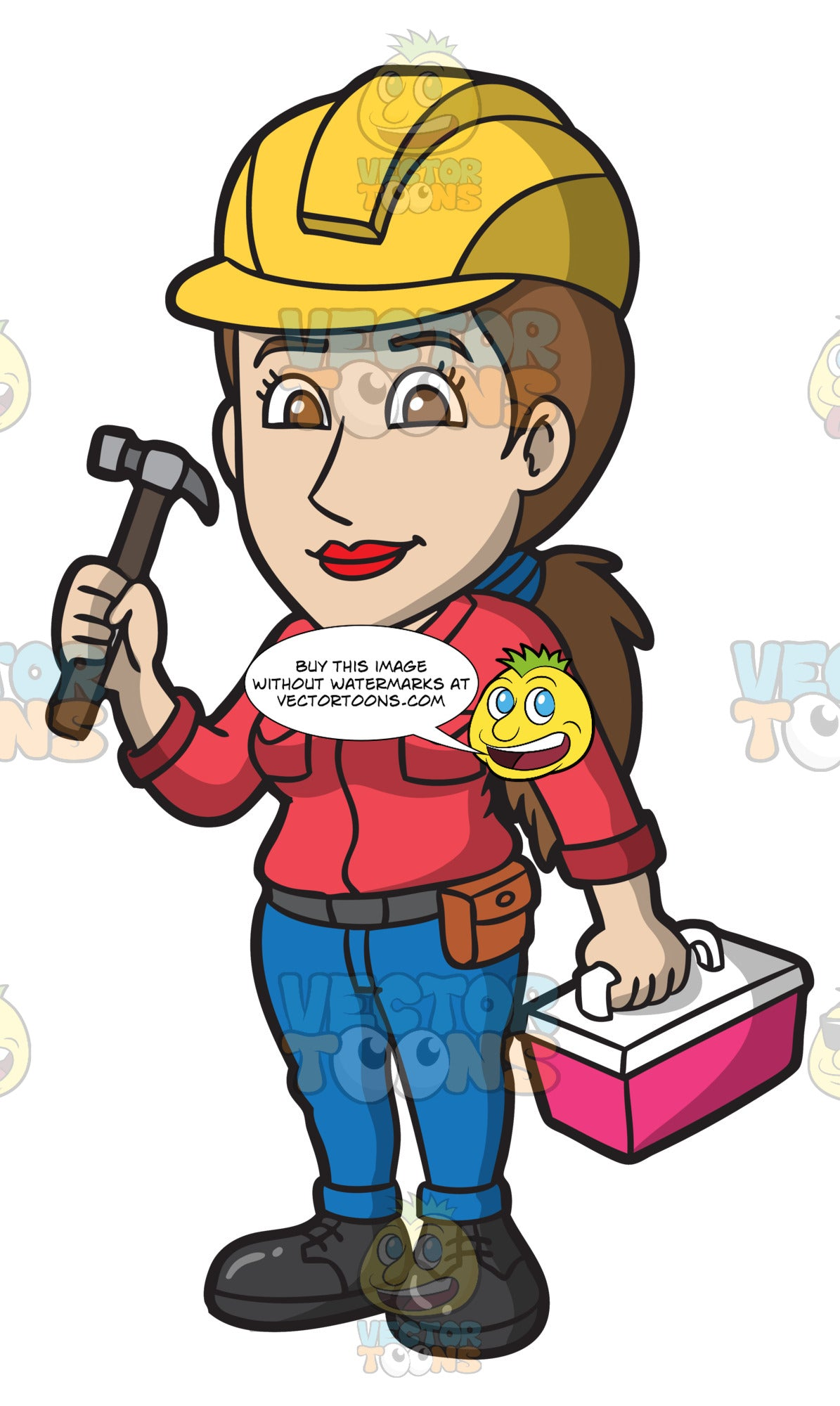 A Happy Female Construction Worker
