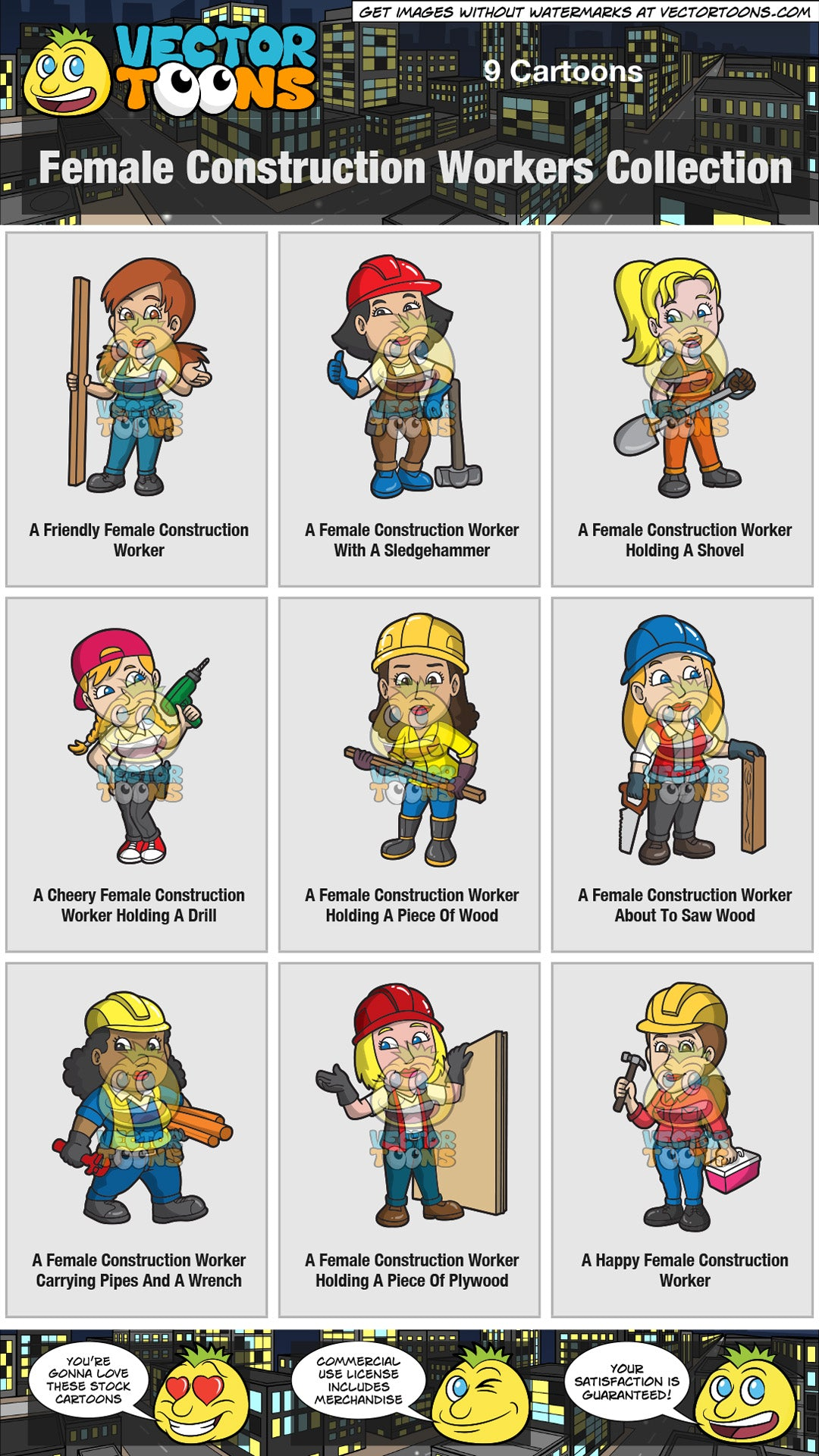 Female Construction Workers Collection