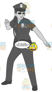Female Cop In Fight Stance