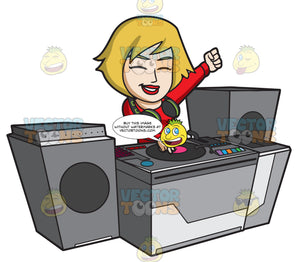 A Very Ecstatic Female Dj