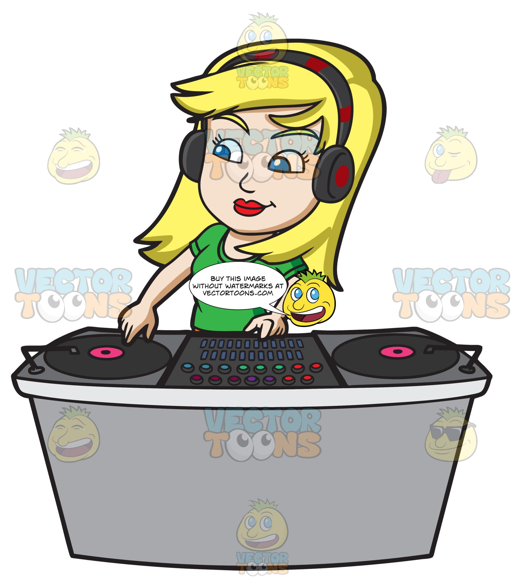 A Female Dj Spinning A Record During A Gig