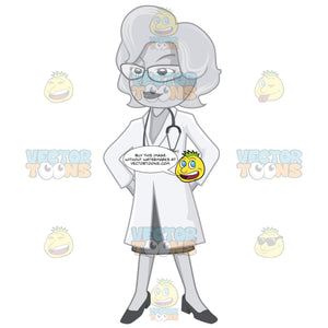 Female Doctor Standing Proud