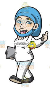 A Female Doctor Giving A Thumbs Up Sign