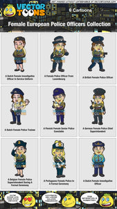 Female European Police Officers Collection