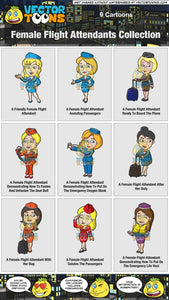 Female Flight Attendants Collection