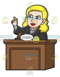 A Female Judge Ordering The Court