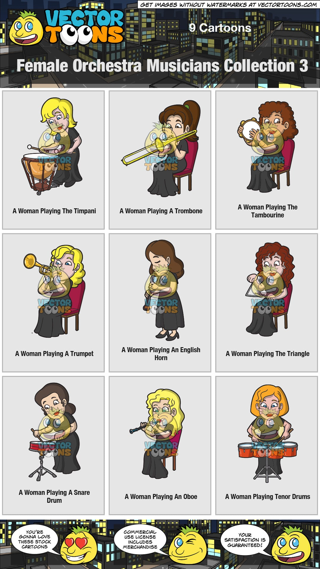 Female Orchestra Musicians Collection 3