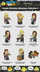 Female Orchestra Musicians Collection 4