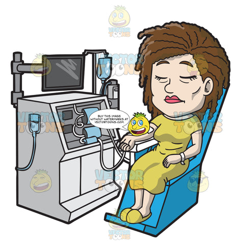 A Female Patient Undergoing Dialysis