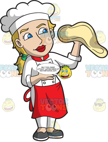 A Female Expert Pizza Maker