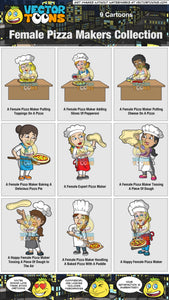 Female Pizza Makers Collection