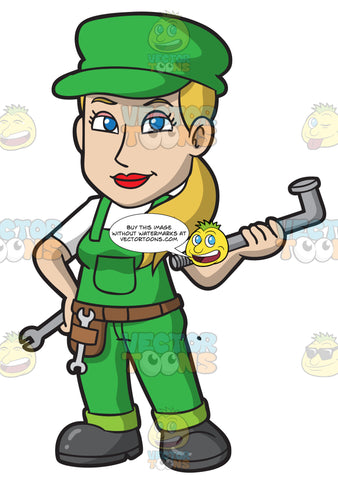 A Pretty Female Plumber