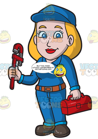 A Professional Female Plumber