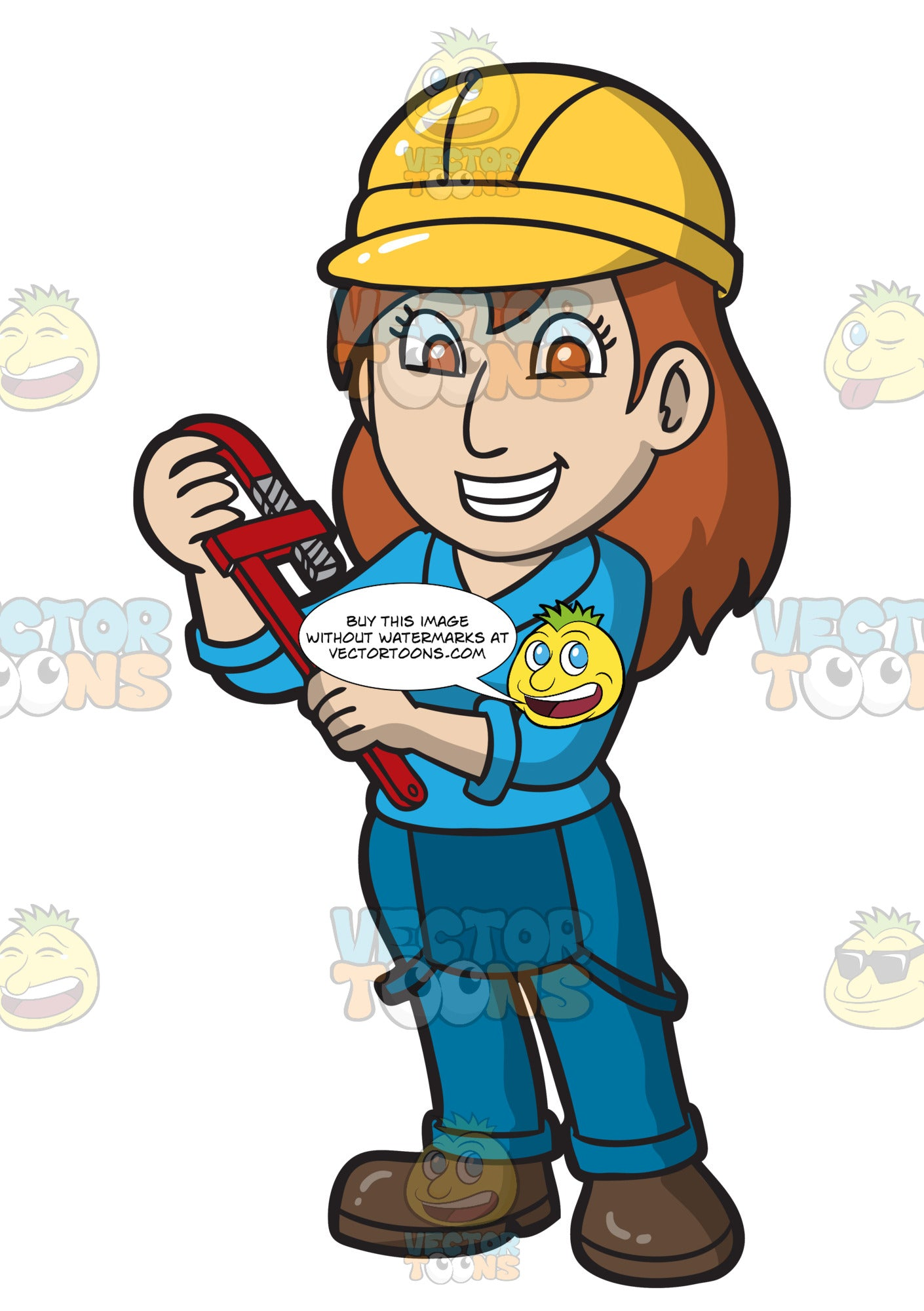 A Happy Female Plumber