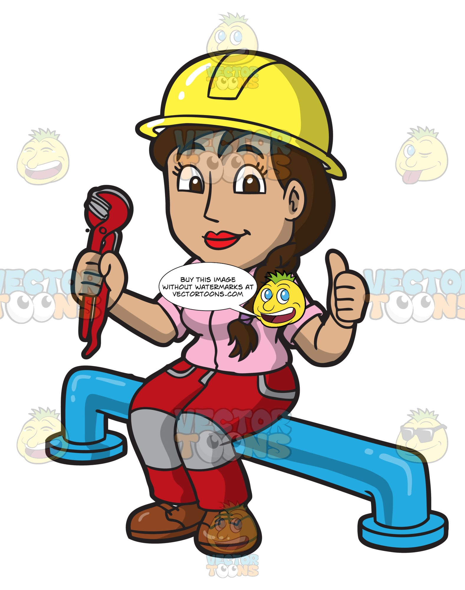 A Female Plumber Taking A Break