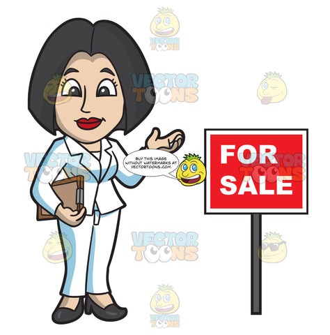 A Female Real Estate Agent During An Open House