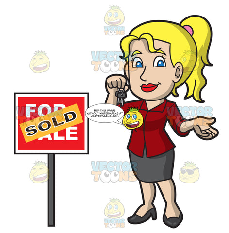 A Female Real Estate Agent Sealing A Property Deal