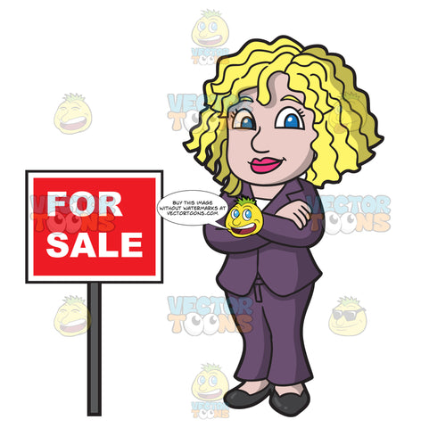 A Female Real Estate Agent Confident To Sell Houses