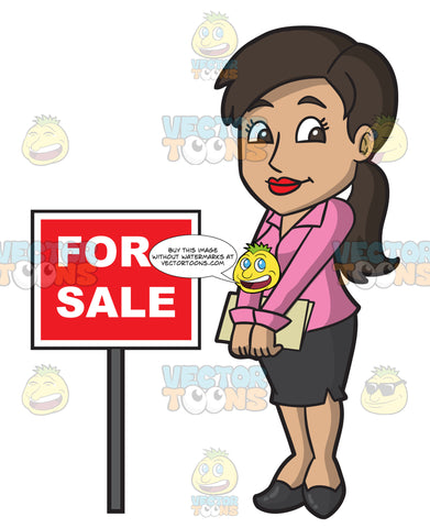 A Shy Female Real Estate Agent