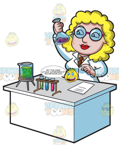 A Female Scientist Shaking A Liquid Combination