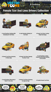 Female Taxi And Limo Drivers Collection