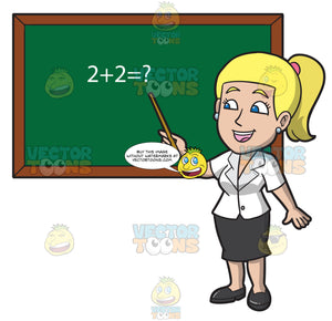 A Charming Female Math Teacher