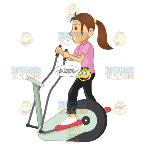 Woman On An Elliptical