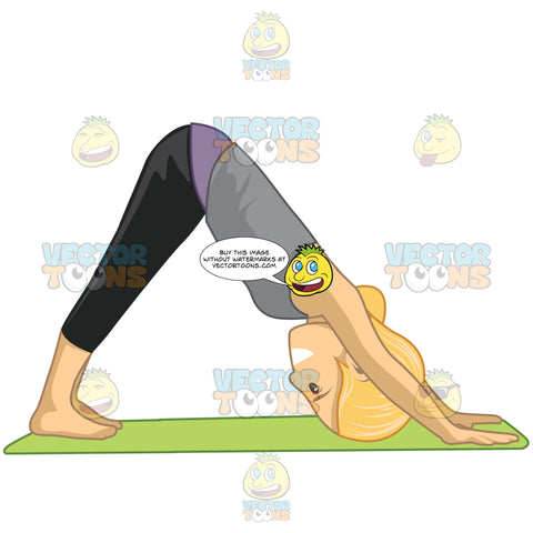 Woman Doing The Downward Facing Dog Pose