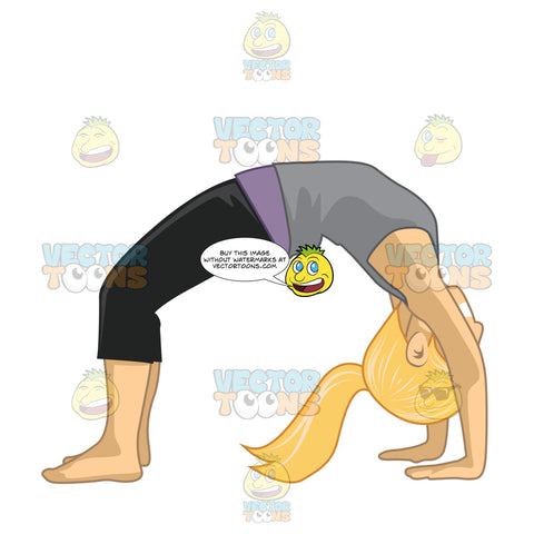 Woman In A Backbend Pose