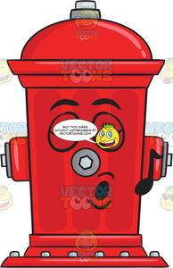 Fire Hydrant Singing In Pleasure Emoji