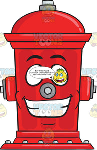 Fire Hydrant With Big Grin On Face Emoji