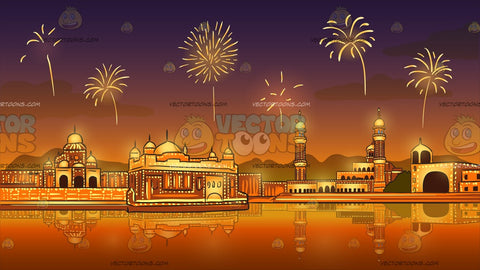 Fireworks Display Celebrating Diwali Background