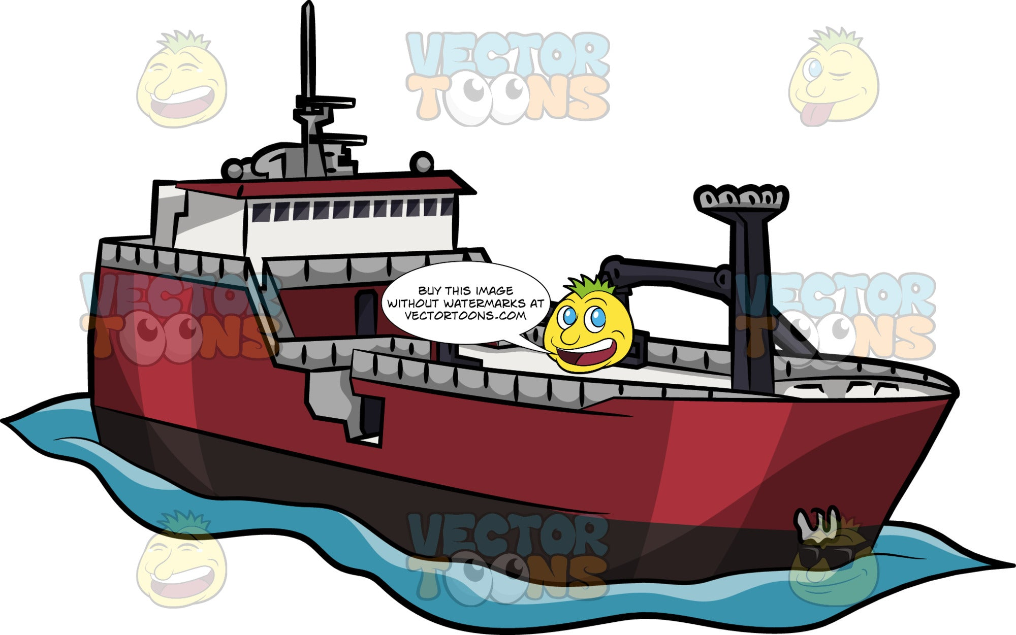 Large Fishing Trawler Clipart Cartoons By Vectortoons