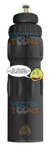 All Black Water Bottle
