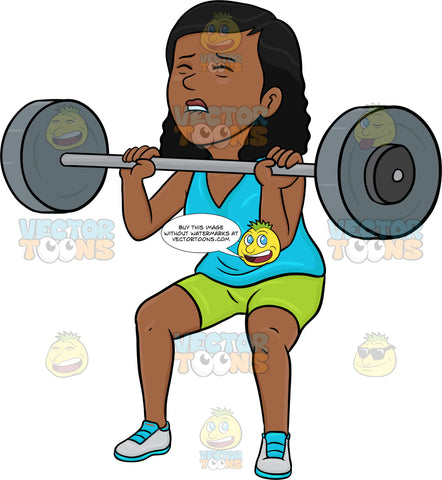 A Dark Haired Woman Lifting A Heavy Barbell