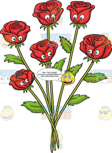 A bunch of red roses
