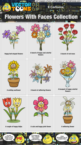 Flowers With Faces Collection